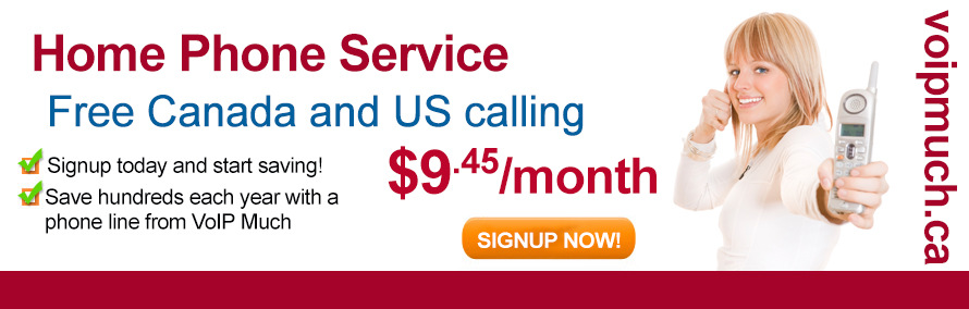 Home Phone Service, Free Canada & US calling - $9.45/month