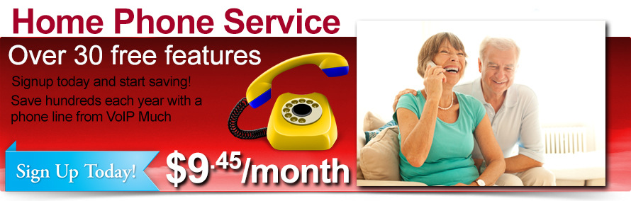 Home Phone Service, Over 30 free features - $9.45/month