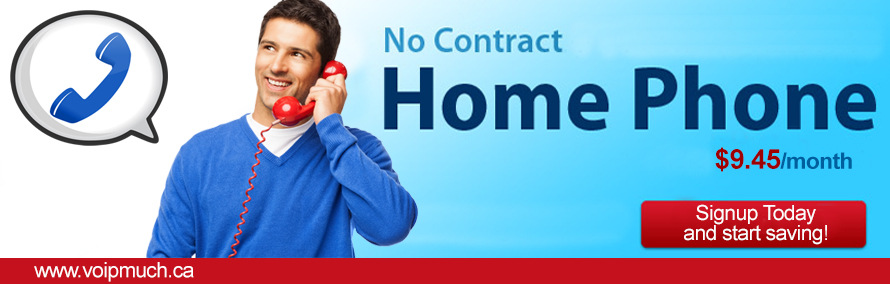 Home Phone Service, No Contract - $9.45/month