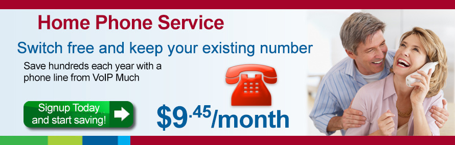 Home Phone Service, Switch free and keep your number - $9.45/month