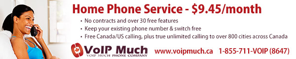 Home Phone Service - $9.45/month